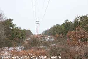 pole lines on ridge
