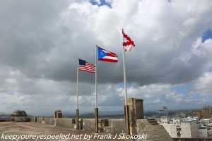 flags waving in wind