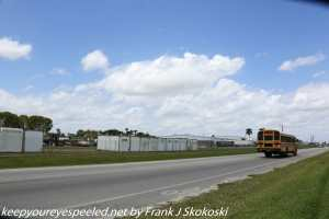 clouds and blue skies on highway in Florida City