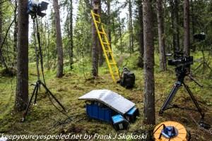 camera equipment along trail