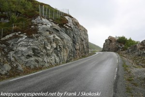 road along rocky cliff