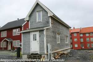 wooden house in Tromso