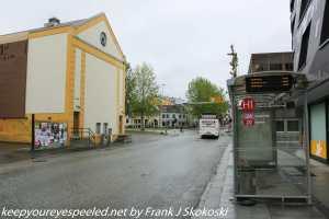 rain soaked street Tromso