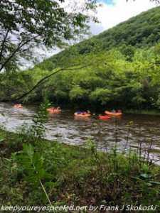 rafts on Lehigh River