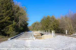 Railroad bridge over Black or Hazle crek