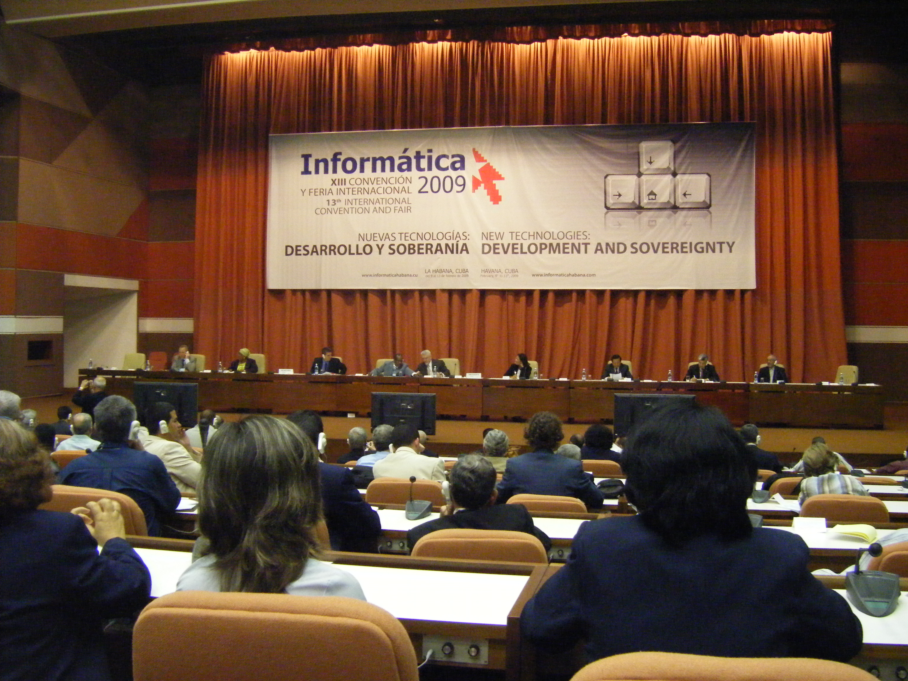 overview of the VIP panel during Infromatica 2009
