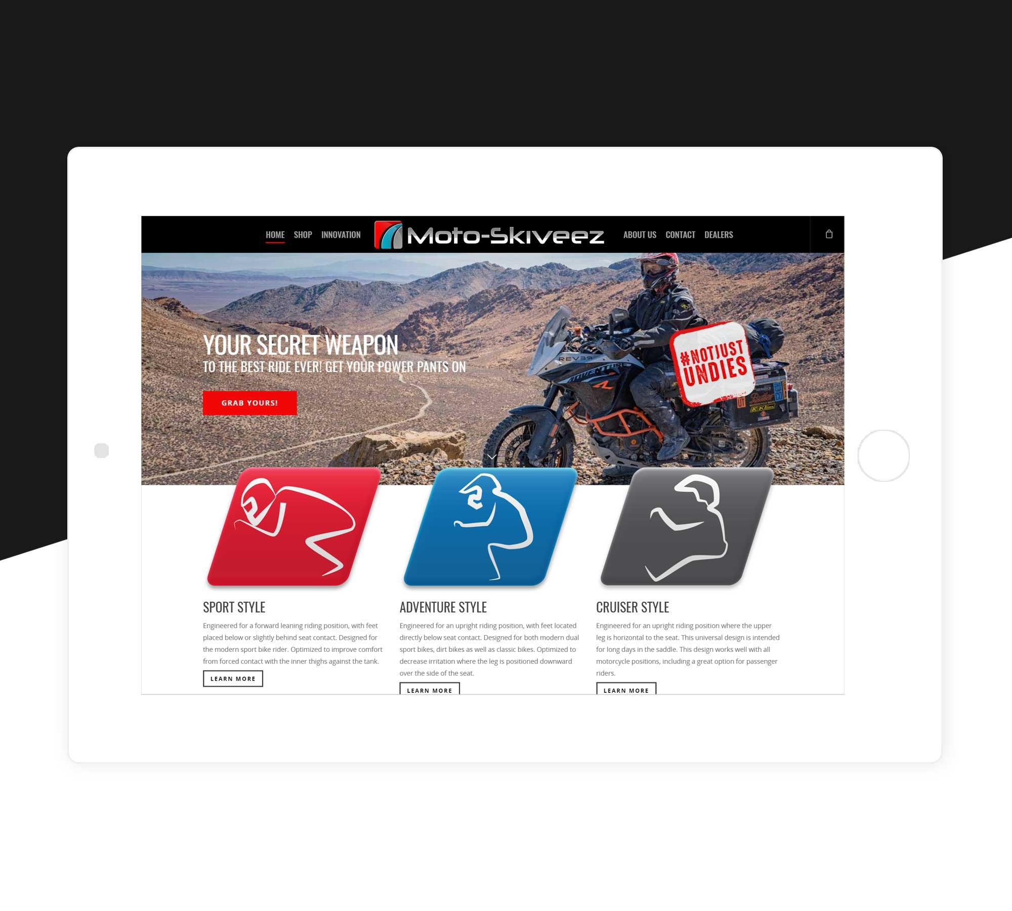Moto-Skiveez-Ecommerce-Website