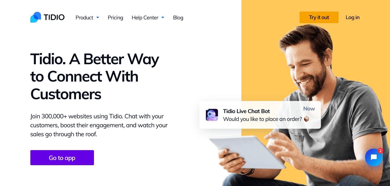 Tidio's Website Design