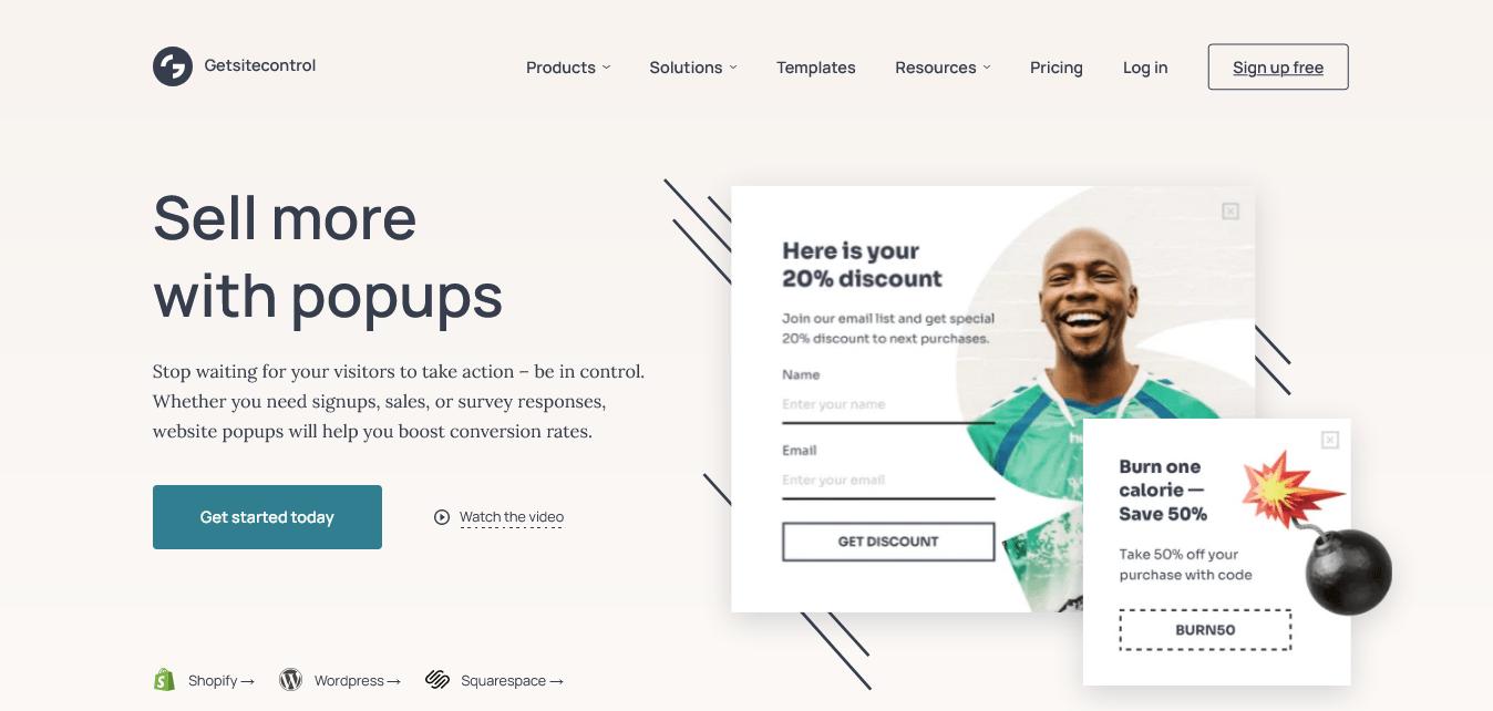 Getsitecontrol Popup Builder Website Design