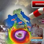 Cyclone forming south of Italy this weekend