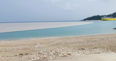 The land washes into the sea at Poros (picture and videos)