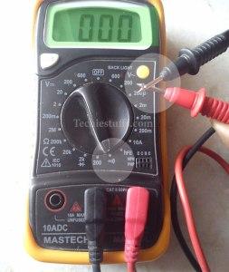 contuinity-test-multimeter