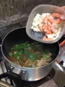 add tofu and shrimp