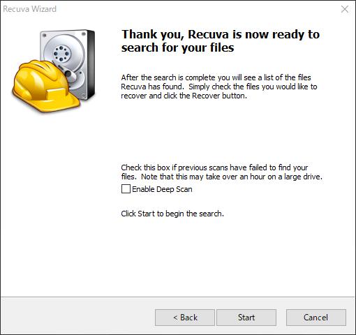 Recuvaでデータ復元・復旧