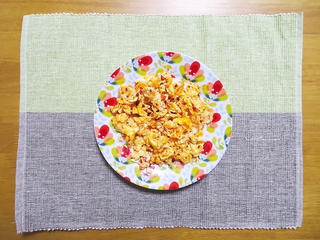 スクランブルエッグと食べるラー油