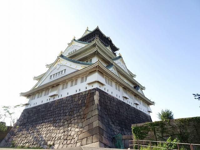 台風直撃後の大阪城