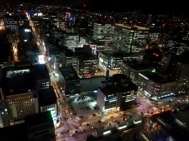 JRタワーホテル日航札幌からの夜景