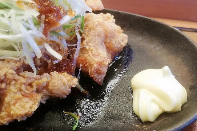 油淋鶏とマヨネーズ