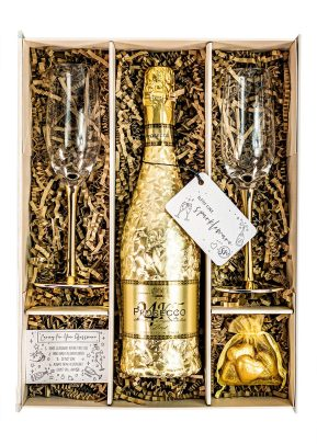 24kt | Prosecco | Gold | 75cl | Sparkleware Gift Set | Keico Drinks