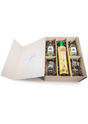 AU Green Watermelon | Gift Set With Golden Rim Tumblers | KeiCo Drinks