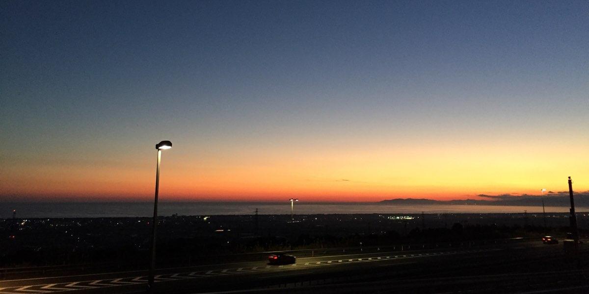 沼津からの夕日