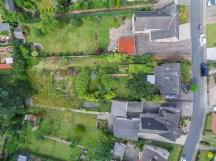 Luftbild mit vorderem Grundstück