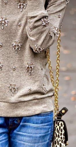 bejeweled sweatshirt