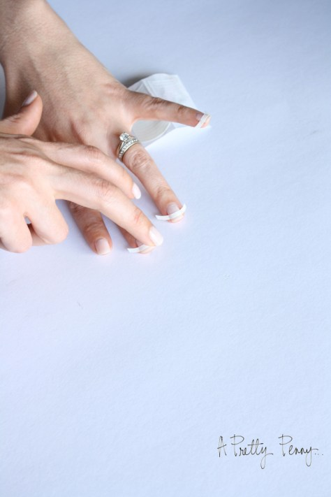A Pretty Penny   Foolproof DIY Black-Tipped French Manicure Prep