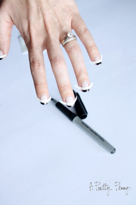 A Pretty Penny   Foolproof DIY Black-Tipped French Manicure Preview