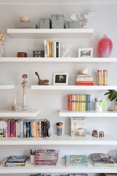floating book shelves