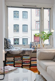 window seat book storage