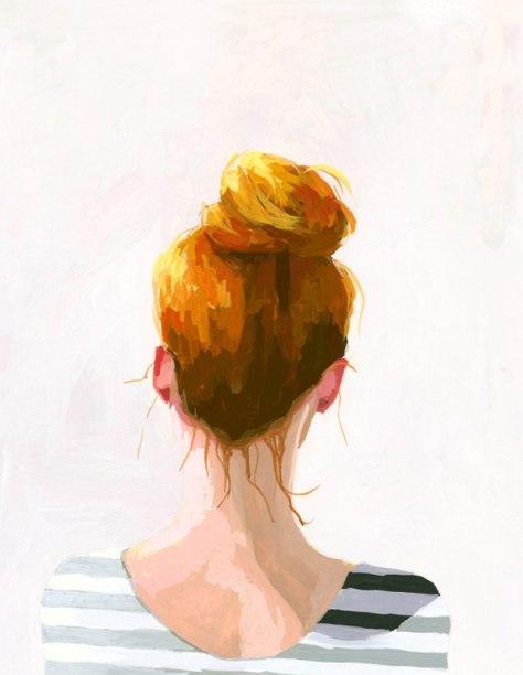 Elizabeth Mayville Topknot Illustration
