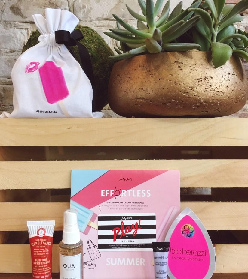 Play by Sephora Beauty Box Summer July 2016   keiralennox.com