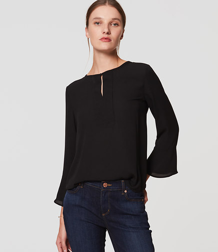 loft-mixed-media-bell-sleeve-top
