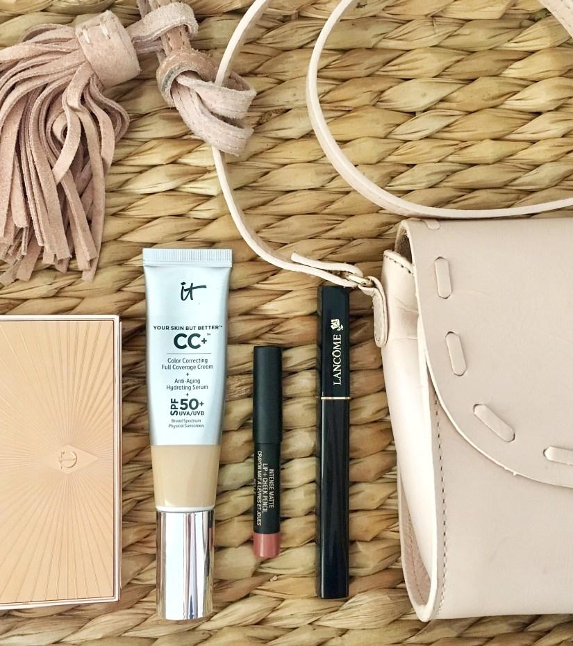 Easy 5 Product Makeup Look f/ It Cosmetics CC+ Cream, Charlotte Tilbury Filmstars Bronze and Glow Palette, Nudestix Lip + Cheek Pencil | keiralennox.com