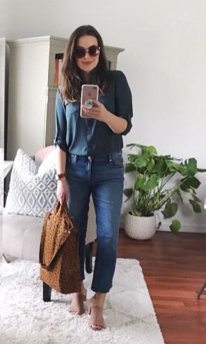 WEDNESDAY :: LOFT utility blouse & cropped modern boyfriend jeans