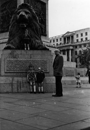 Me, my sister and our Grandfather Kennedy in Trafalgar square, London, 1968.  I'd like to say that things were simpler then, but I find I can't, really.  In a bizarre way this is comforting.  I wonder if anyone gets that.