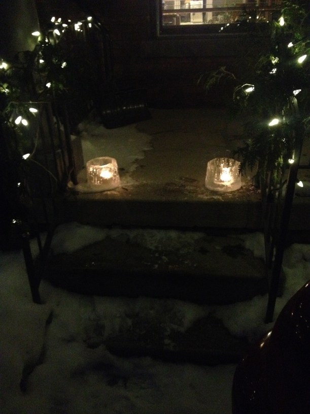 ice candles, made in the winter of 2015 by my friend Robbin Darling.