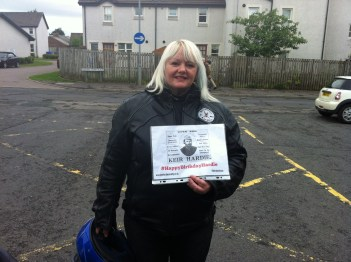 Sylvia McTurk who's grandfather was named Keir after Hardie and became a local politician in the Cumnock area