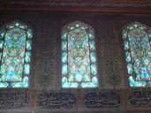 Coloured glass and Iznik-tiled walls, Crown prince's apartments at Topkapi Palace.
