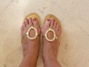 My new sandals - made while I waited