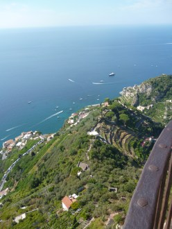 View from Terrace of Infinity at Villa Cimbrone
