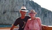 Returning to Capri by motor boat