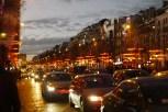 Champs Elysees red orange