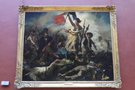 Le 28 juillet La Liberte guidant le peuple by Delacroix
