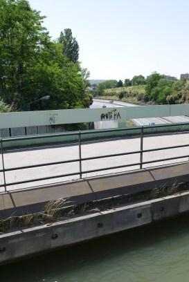 Canal du Midi bridge over motorway
