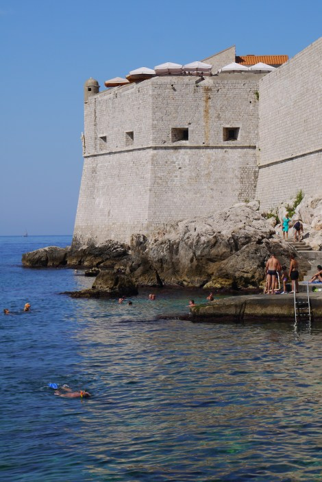 Swimming spot near St John's Fort