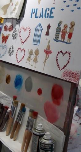 DIY fabric art demos