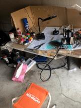 エアブラシ塗装作業