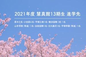 2021年度入試結果のご報告